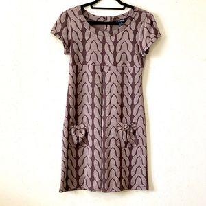 Super Cute Knit Dress Wine Color Pattern